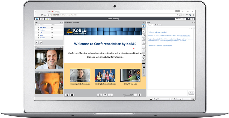 Koblü ConferenceMate Web Meetings